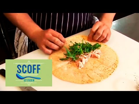 How To Make A Sandwich Wrap - YouTube