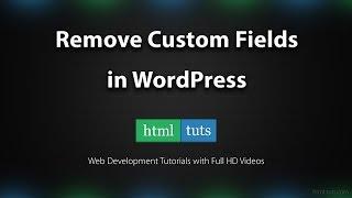 видео Delete Custom Fields