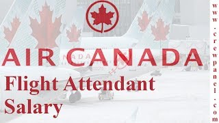 How much does a flight attendant earn in Air Canada | Cabin Crew Salary In Air Canada