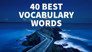 40 Best Vocabulary Words - Learn English - Lucid Explanation - Study IQ Education