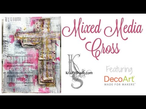Mixed Media cross - featuring DecoArt Media products