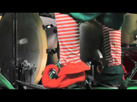 This Drummer Is At The Wrong Christmas Gig
