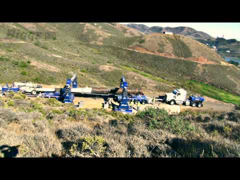 Bigge Transports Historic Gun Barrel at Rodeo Beach, California
