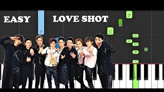 EXO - Love Shot (EASY Piano Tutorial)