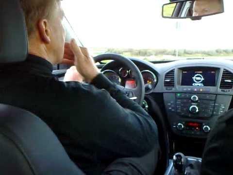 Opel Insignia Slalom Test Met Kurt Thiim