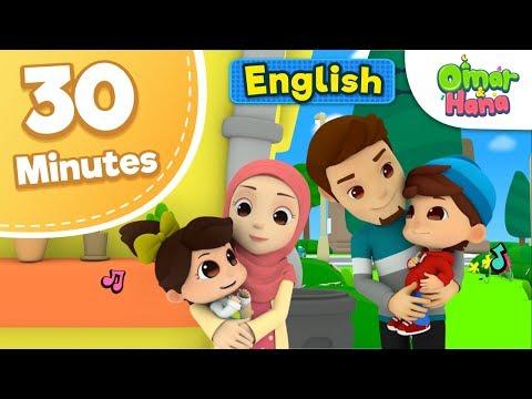 Omar & Hana 30 Minutes Compilation   Islamic Cartoon For Kids   Nasheed For Children