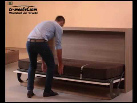 schrankbett wandbett klappbett mit schreibtisch singlo desk youtube. Black Bedroom Furniture Sets. Home Design Ideas