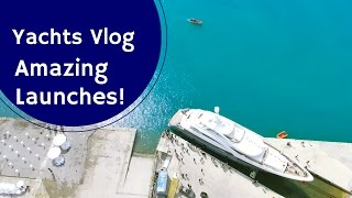 Yachts Video Blog - Two Amazing Superyacht Launches