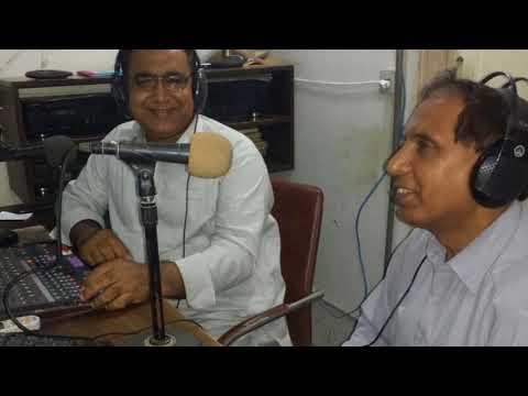Inayat Memon, Renowned Poet & Broadcaster Of Sindh @ Hot FM 105 Larkana.
