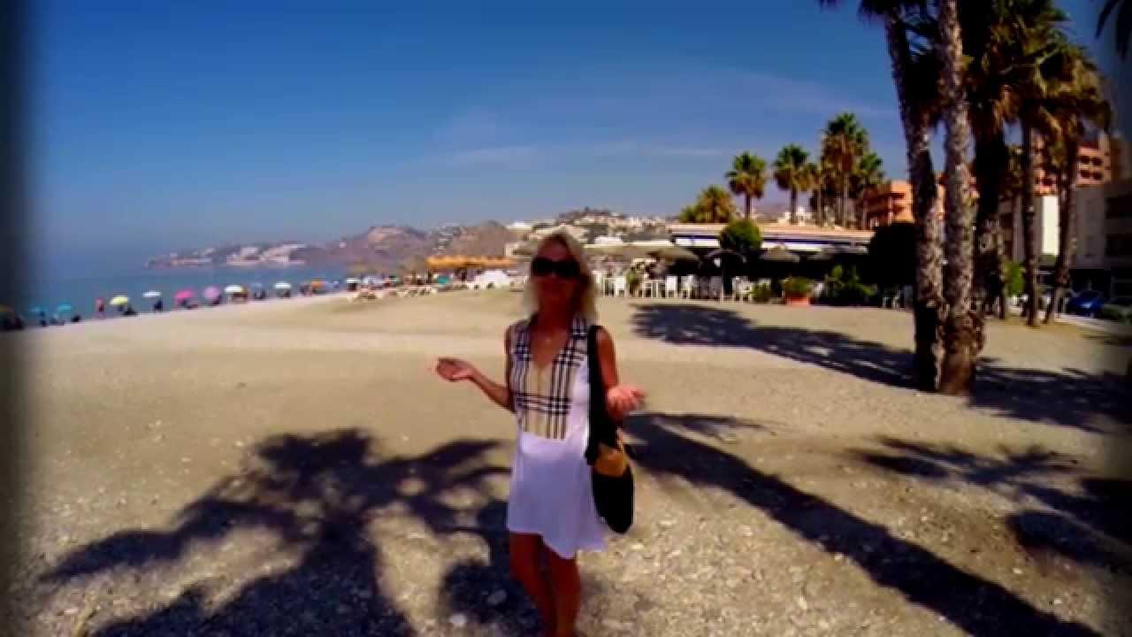 Playa San Crostobal, Almunecar in Spain