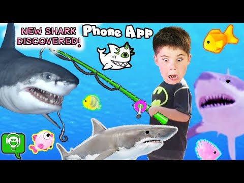 GREAT WHITE Fish Phone App and Land Fishing Surprises
