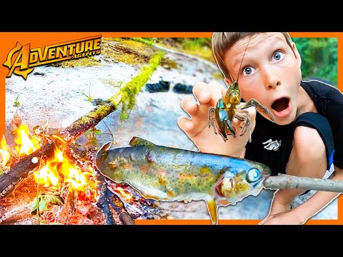 Trout and Crawdad Survival Fishing Trip!