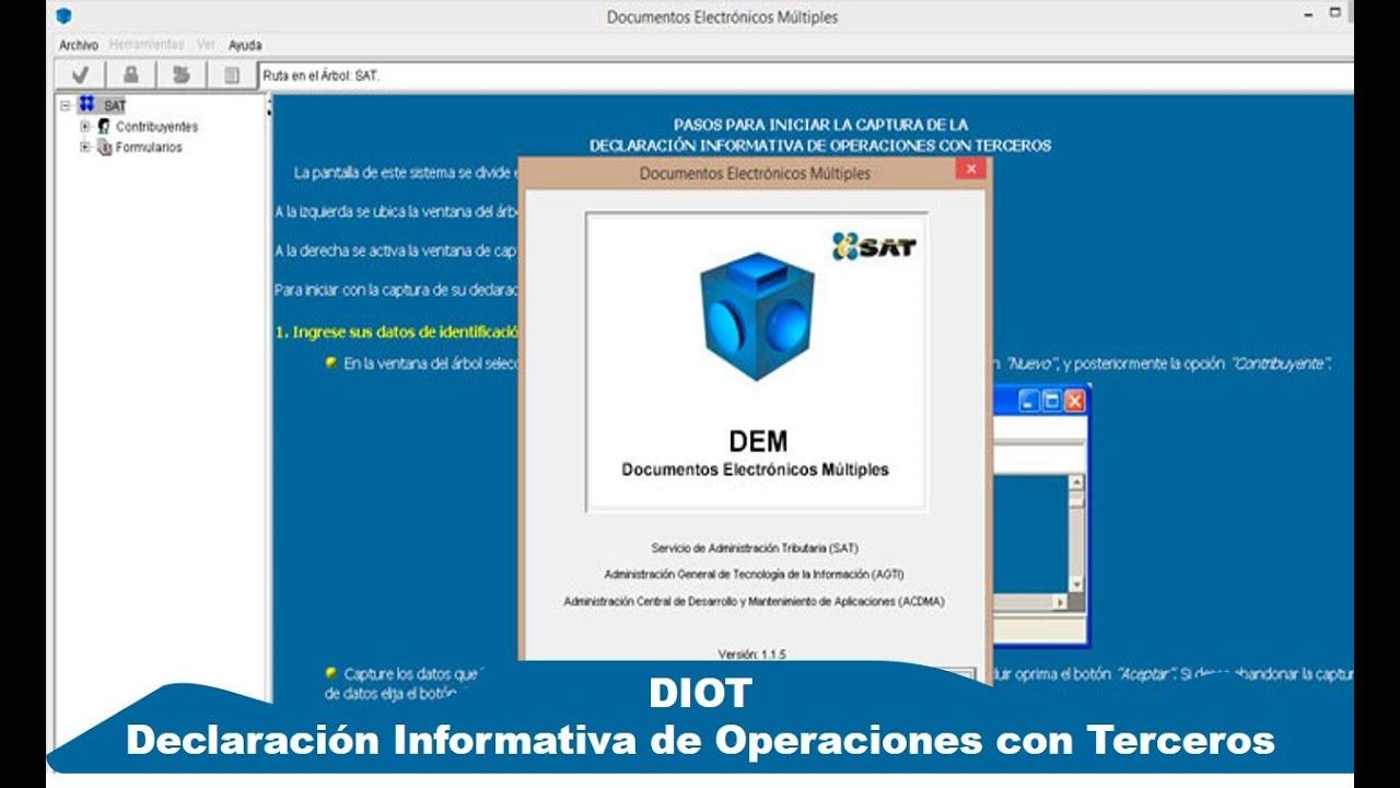 Como Hacer La Declaración De Diot Con Datos