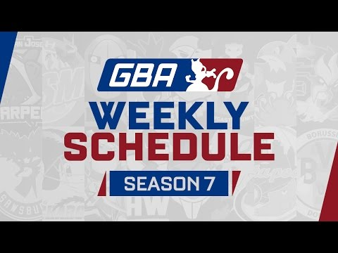 GBA Season 7 Analyst Introduction and Weekly Schedule