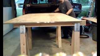 Saw Horse Table Build Pt 2of 2