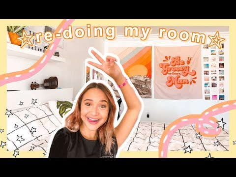 EXTREME ROOM MAKEOVER 2019/ re-doing + re-decorating my room + aesthetic room tour