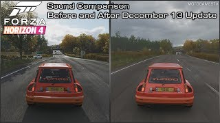 Forza Horizon 4 - Renault 5 Turbo Sound Comparison - Before and After December 13 Update