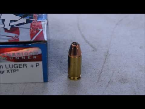Glock 43 9mm Hornady American Gunner +p 124 Grain XTP