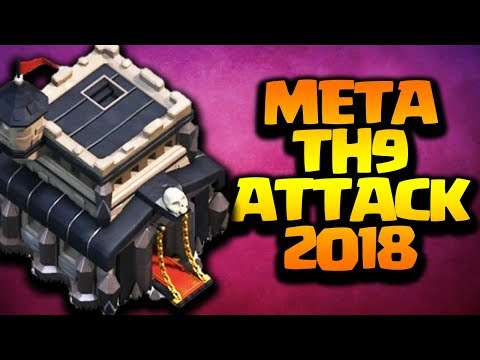 Meta TH9 Attack Strategy 2018 in Clash of Clans