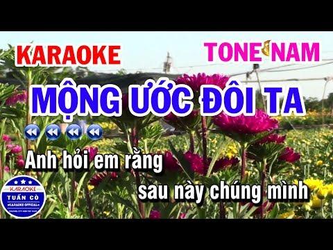 Karaoke Mộng Ước Đôi Ta | Nhạc Sống Tone Nam Beat Fm | Karaoke Tuấn Cò