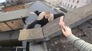 My mate slipped off a roof!