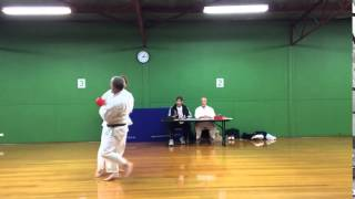 Torakan Karate Black Belt Grading - Will Shearer - sparing 2