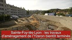 Sainte-Foy-lès-Lyon : les travaux d'aménagement de l'Yzeron bientôt terminés