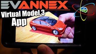 Evannex Tesla Model 3 in Your Pocket! AR app