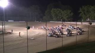 Quincy Raceway POWRi Lucas Oil Midget Feature Highlights