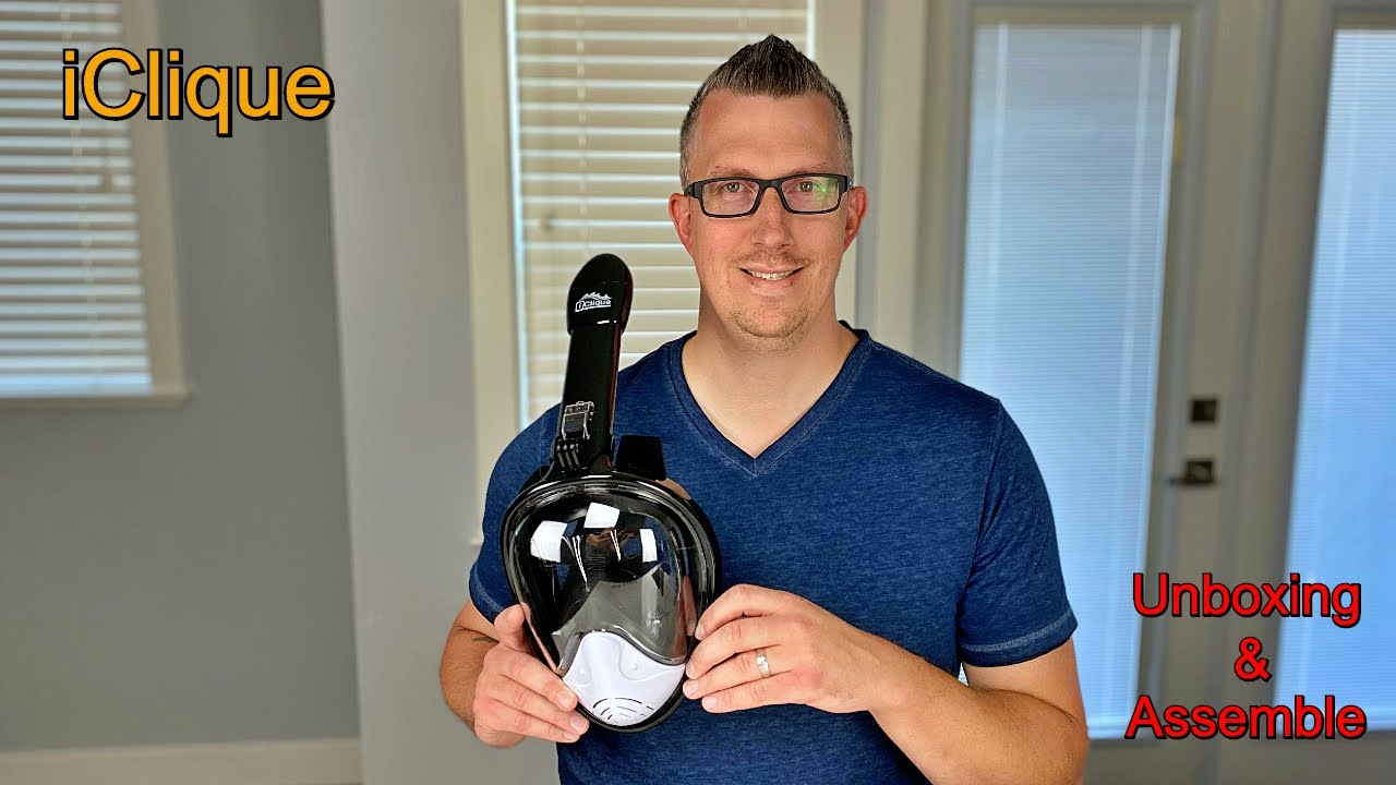 Unboxing Assembling My Full Face Snorkel Iclique Youtube