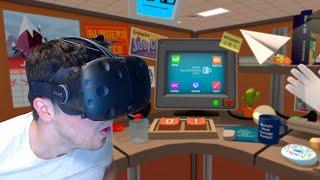 TRABAJO EN UNA OFICINA!! Job Simulator (HTC VIVE VR)