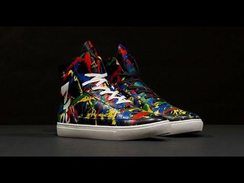 DEF LEPPARD - Phil Collen Electric Splatter Shoes
