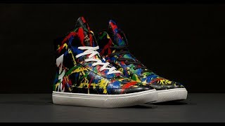 DEF LEPPARD - Phil Collen Electric Splatter Shoes