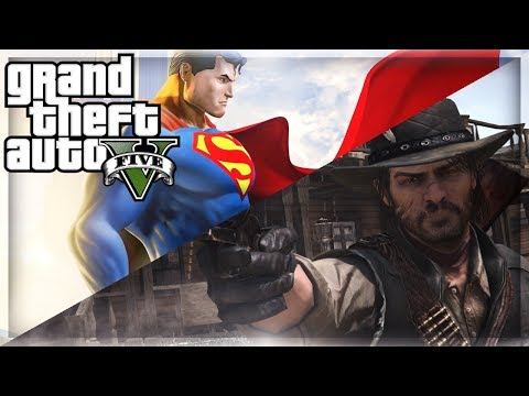 GTA 5 Mods - John Marston Red Dead Redemption And Superman Mod On GTA 5 Online