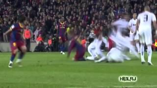 Messi and Ronaldinho Destroying Sergio Ramos