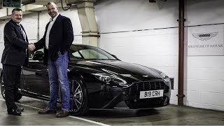 Chris Hutchings collects his Aston Martin Vantage!