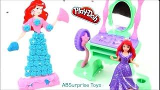 Pâte à modeler Princesse Ariel La coiffeuse Ariel ♥ Play Doh Ariel Royal Vanity