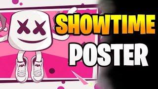 Fortnite: Suche ein Showtime-Poster - Showtime Herausforderungen Season 7 Woche 9
