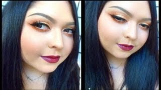 Look: Vermilion (Bright Orange Eyes with extreme eyeliner & vampy lips) Thumbnail