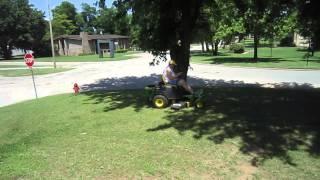 Jean's  Aka Mama Bulldog ) First Lesson On 0 Turn Mower