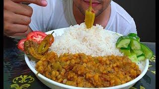 Desi Achar & white rice Dall  Messy eating mukbang  Dal chawal  messy food eating  mukbang eating