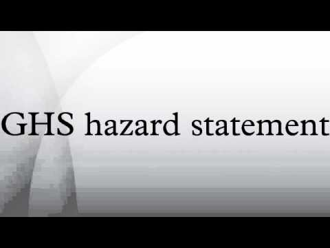 GHS hazard statement