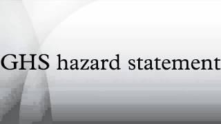 GHS hazard statement