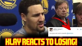 KLAY THOMPSON REACTS To The WARRIORS LOSING GAME 5 Of The NBA FINALS