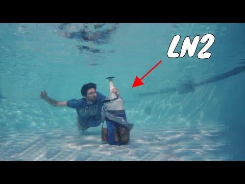 Opening A Bottle Of Liquid Nitrogen Under Water!
