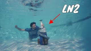 Opening a Bottle of Liquid Nitrogen Under Water!