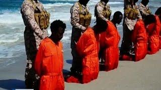 Боевики Исламского государства. Казнь 30 эфиопских христиан.