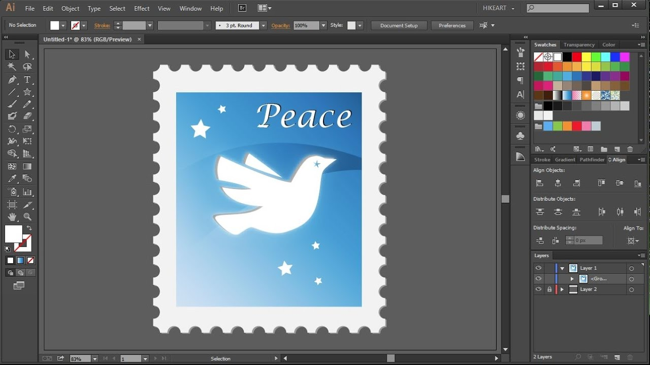how to create a postage stamp in adobe illustrator youtube