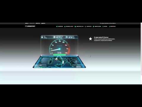 "100 MEGA SPEED TEST TELECOM (TIM) 100\20 ""FTTC; VDSL2"" (NO VECTORING)"
