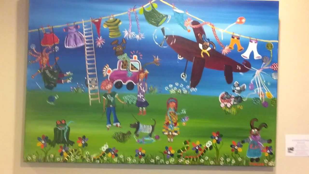 Kinderschilderijen expositie zwolle youtube - Kinder schilderij ...